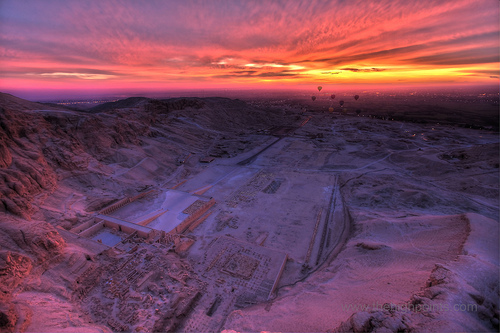 The memorial temple of Queen Hatshepsut and the Dayr Al Bahari cirque – Luxor Egypt