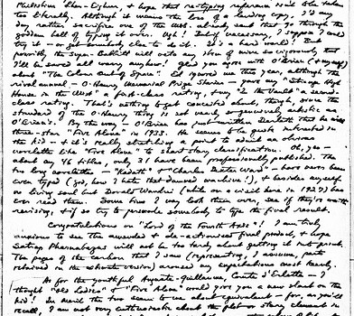 069 I_01b Web page One Detail from H. P. Lovecraft 18-Nov-1932 Letter to E. Hoffmann Price tag 5.four X six.9 From the 10-Might-1981 Envelope to William Hart