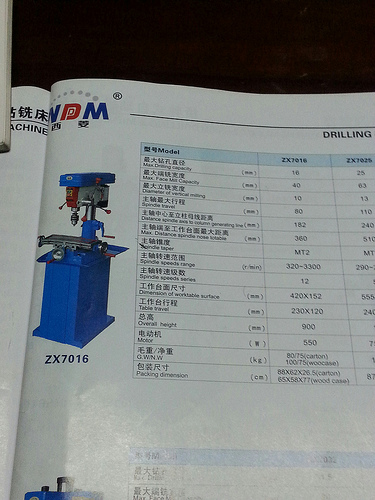 china milling machine